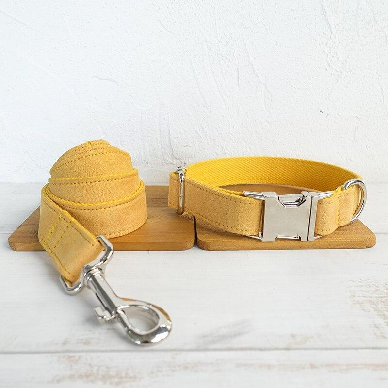 Dog Collar & Leash | Yellow - Barker & Bone