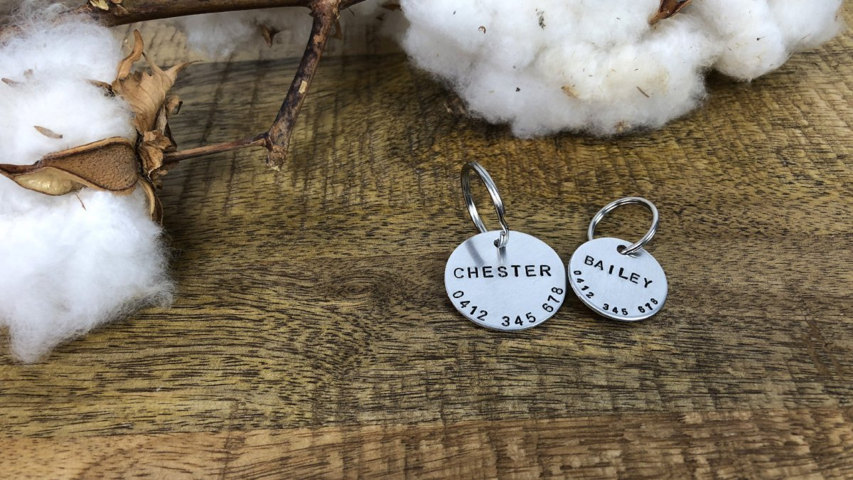 Hand Stamped Dog Tag | Aluminium - Barker & Bone