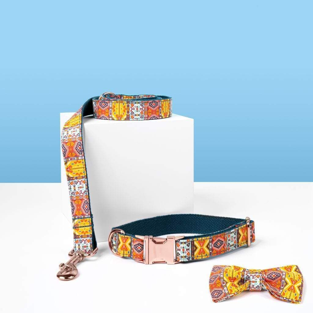 Luxe Dog Collar & Leash | Bohemian - Barker & Bone