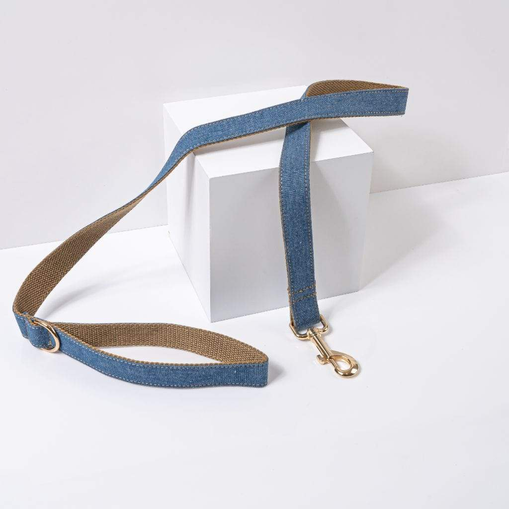 Luxe Dog Leash | Denim - Barker & Bone