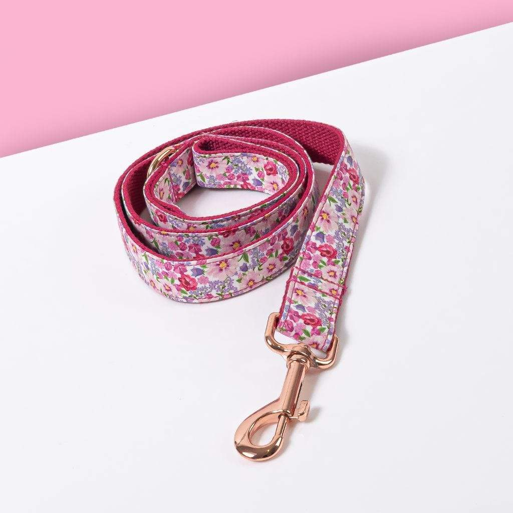 Luxe Dog Leash | Pink Flower - Barker & Bone