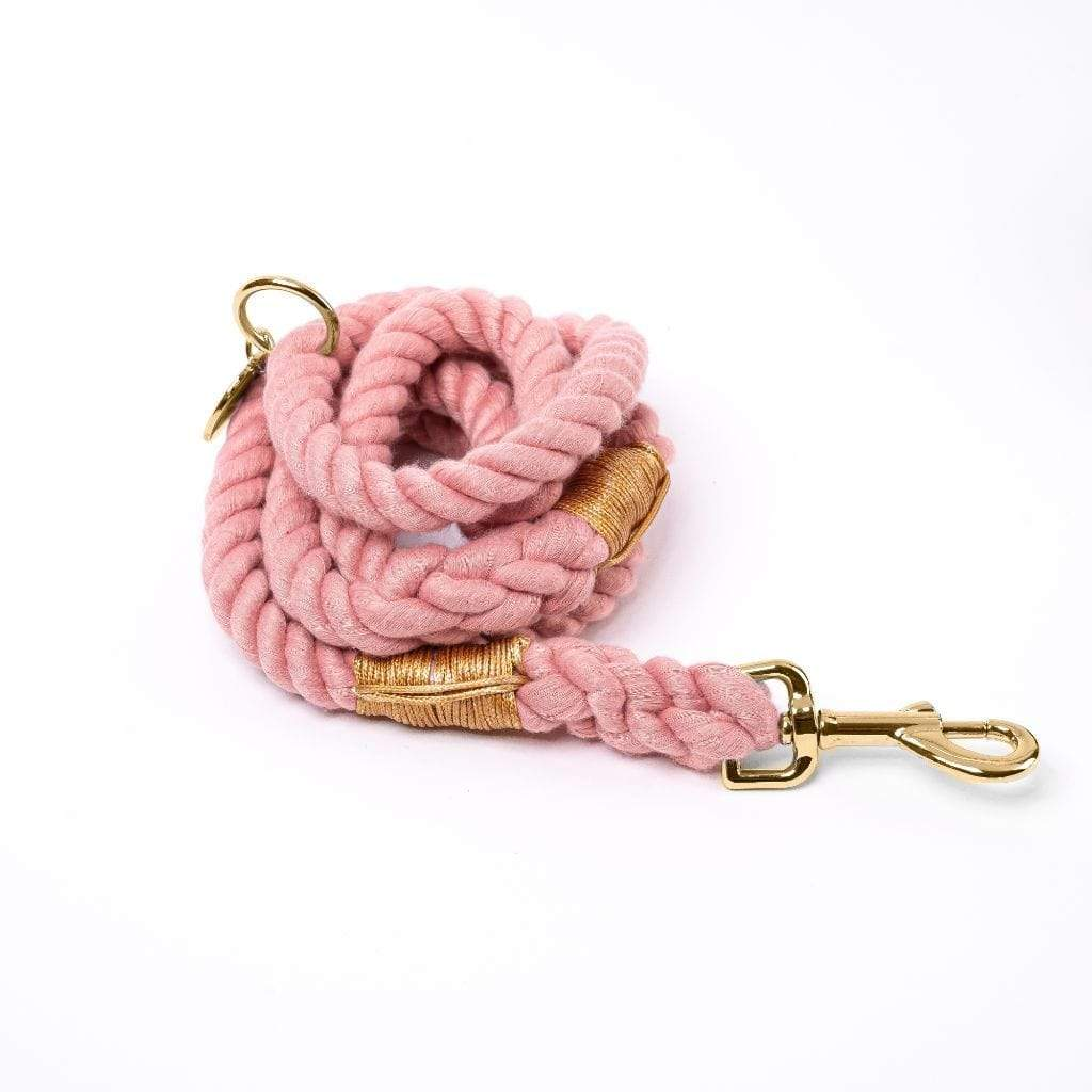 Rope Dog Leash | Coral Pink - Barker & Bone