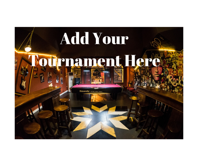 Add Your Tournament Here - No Upfront Costs