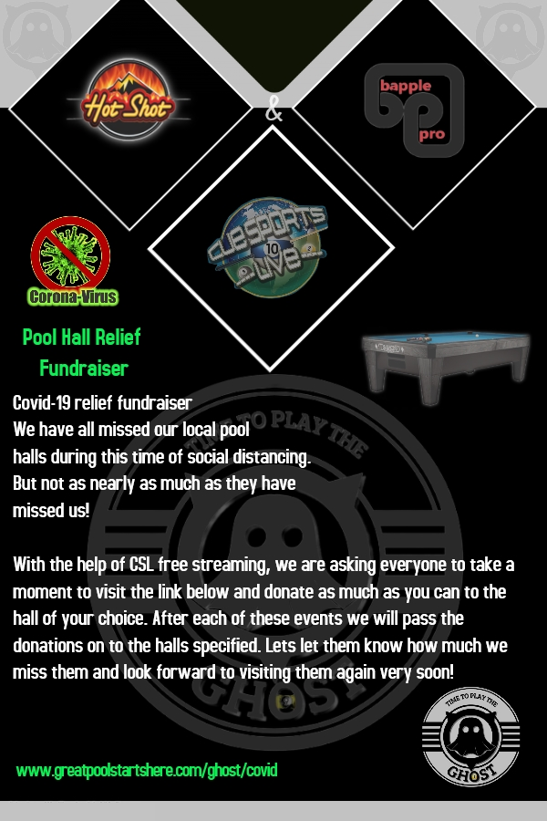 COVID Pool Hall Relief Fundraiser