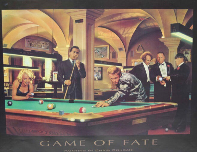 Billiard Poster Game of Fate