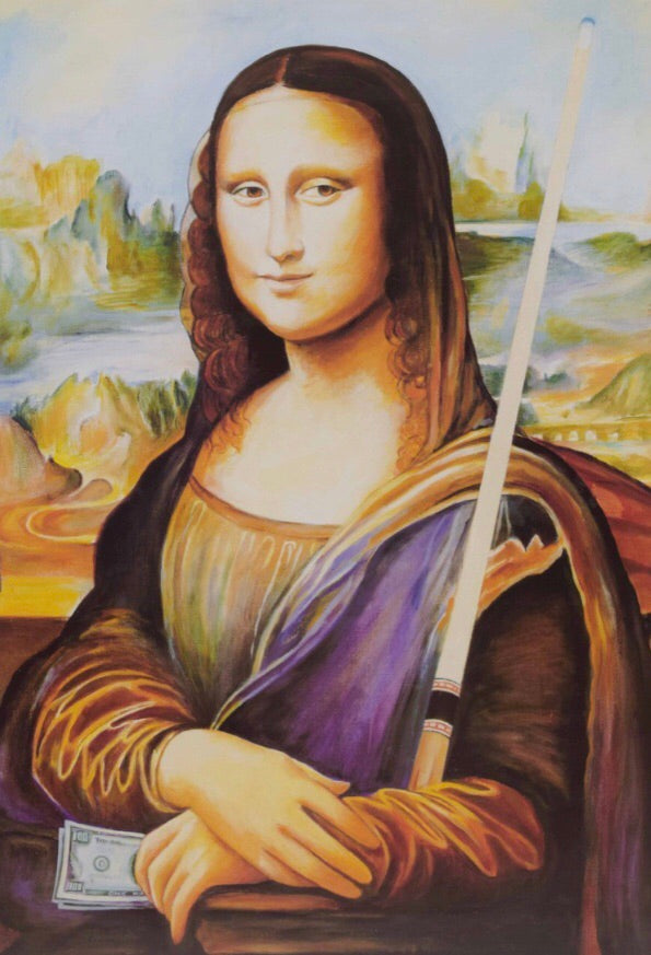 Billiard Poster Mona Lisa