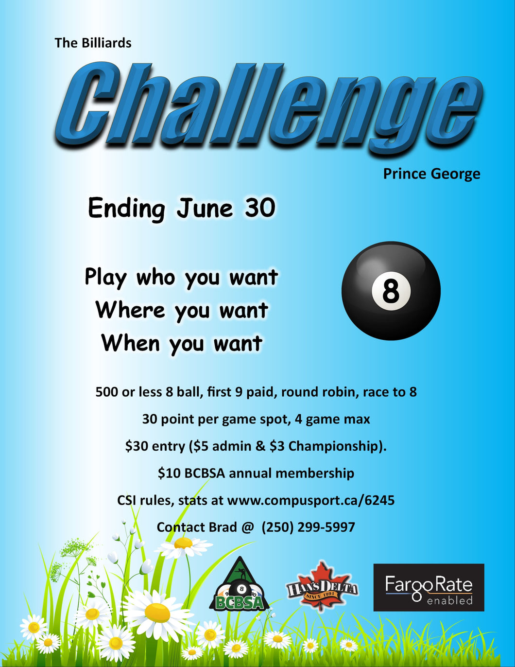 The Challenge Prince George -  500 or Less 8 Ball