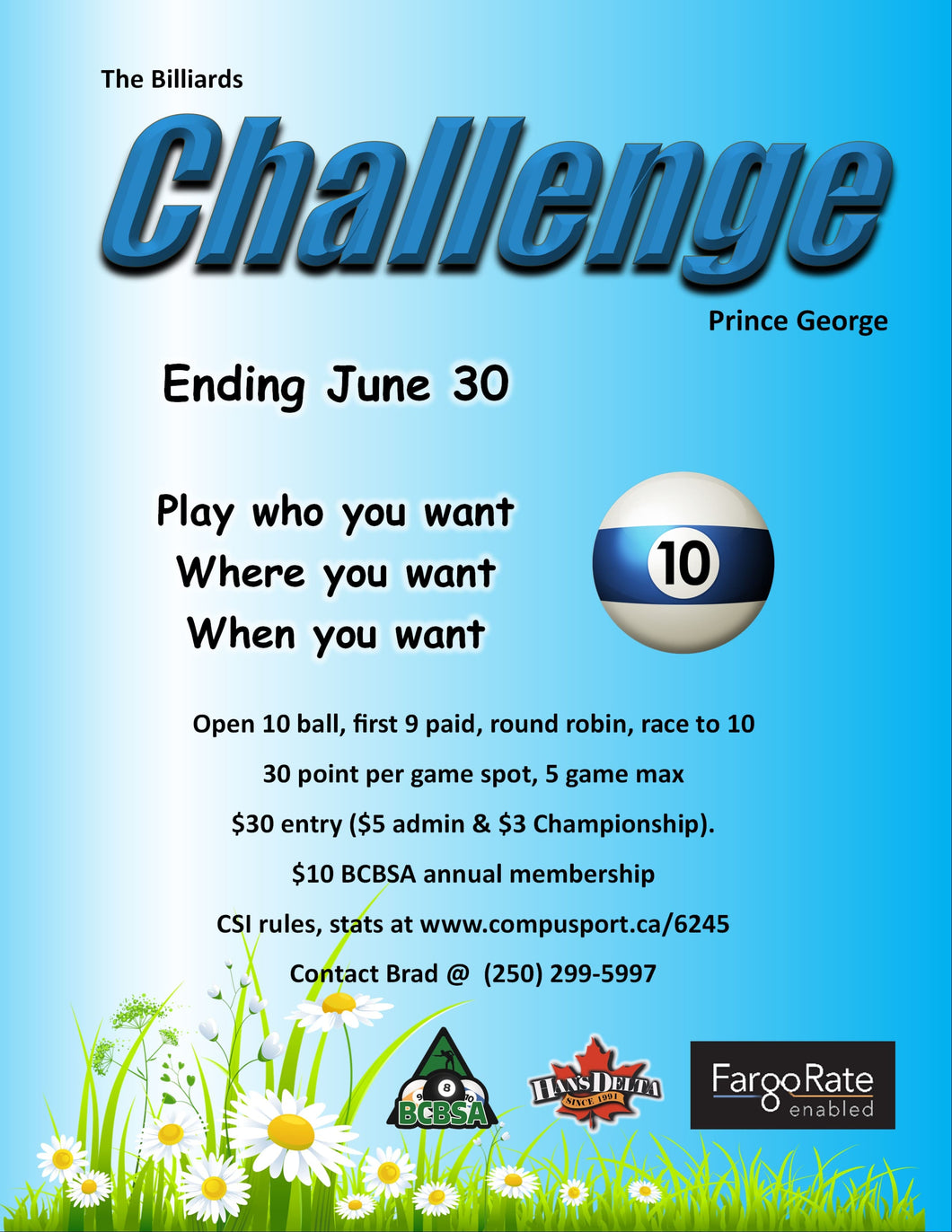 The Challenge Prince George -  Open 10 Ball