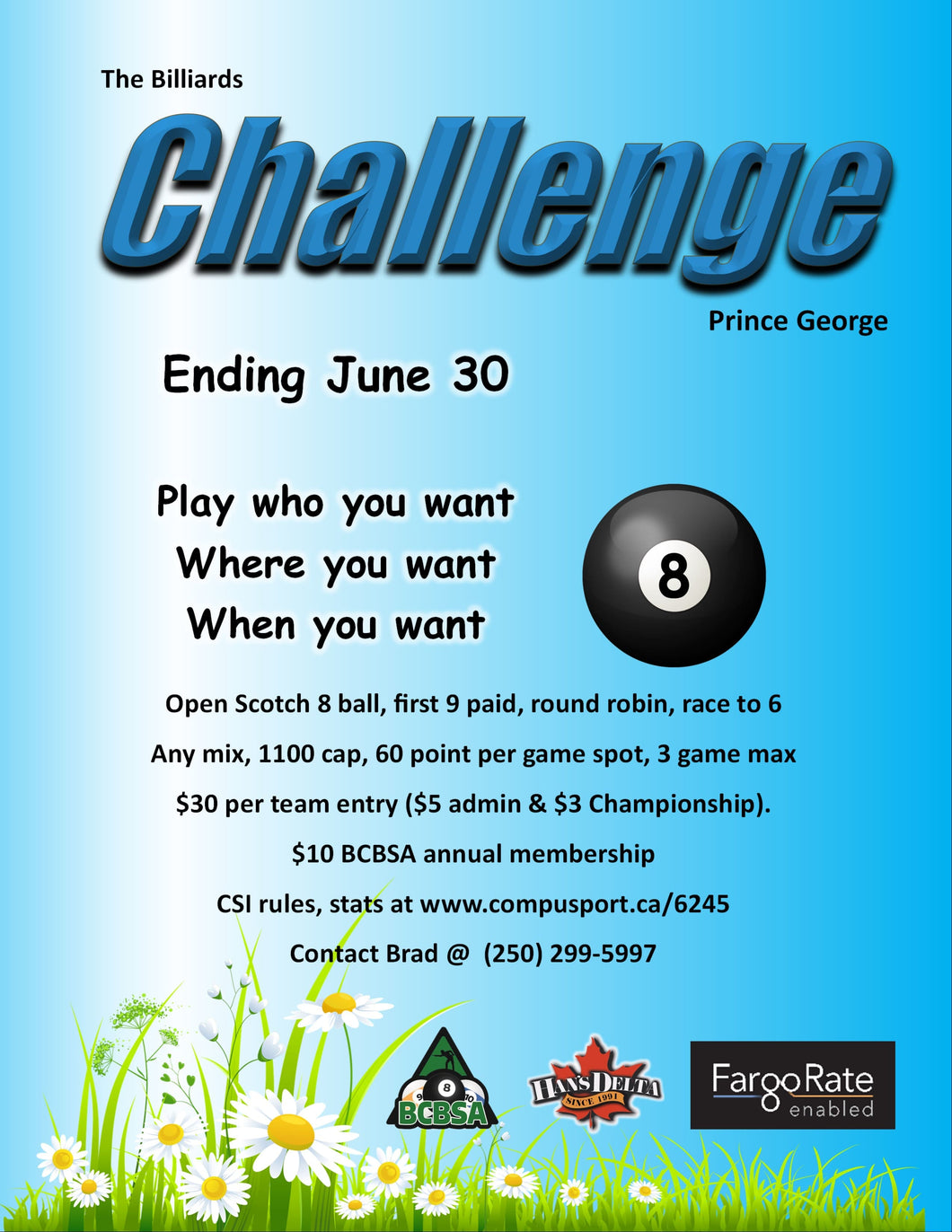 The Challenge Prince George -  Open Scotch 8 Ball