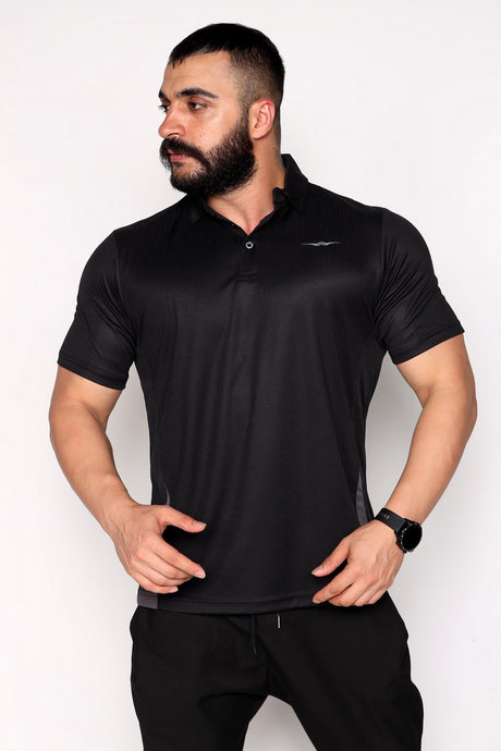 Polo Neck Breathable Fabric Sports T-Shirt