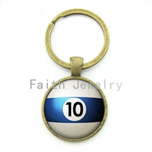 Number 10 Pool key chain Table