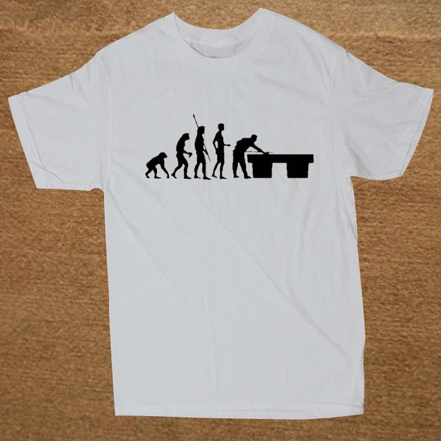 The Evolution Billiards Custom T - Shirt Men Short Sleeve