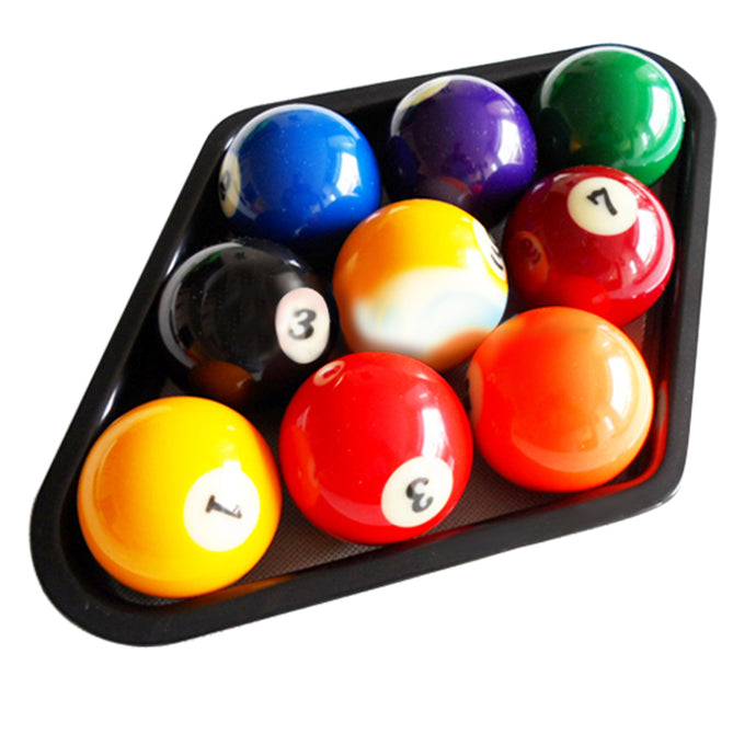 Plastic Billiards 9 Ball Pool Table Triangle Rack Heavy Duty Black wear-resistant Fits standard 2 1/4