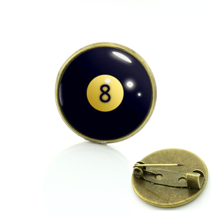 Trendy Eight Ball Billiards Pin vintage - Mens