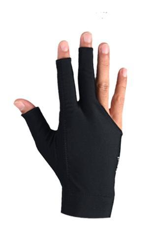 Black - 3 Fingers Glove - Left Hand
