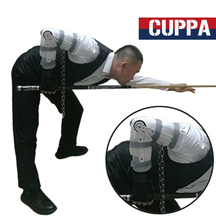 Integrated Arm Wrist Pool Cue Training Appliance