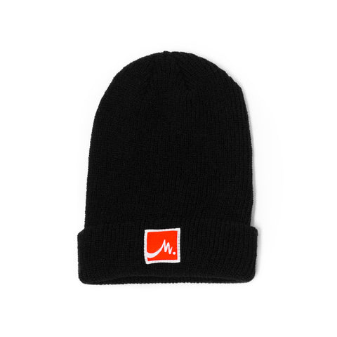 Black Beanie - Red Label - Wholesale