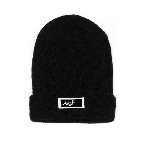 Black Beanie - Black Label - Wholesale