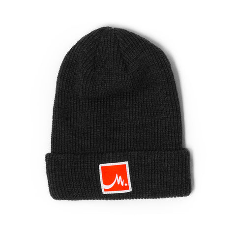 Charcoal Beanie - Red Label - Wholesale