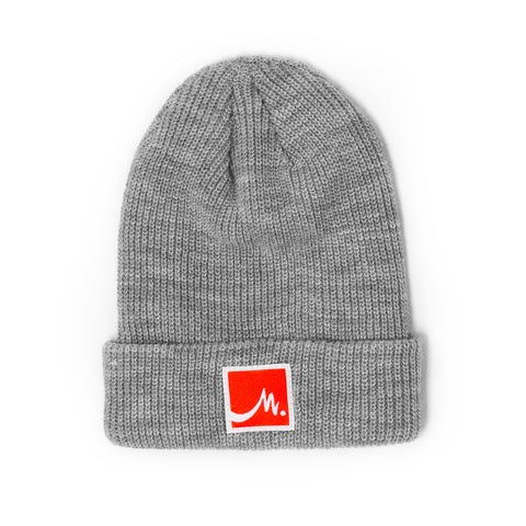 Light Grey Beanie - Red Label