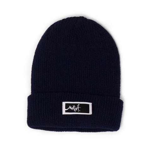 Navy Beanie - Black Label