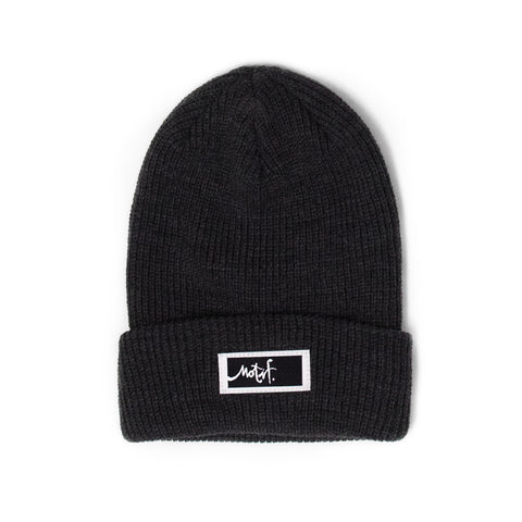 Charcoal Beanie - Black Label - Wholesale