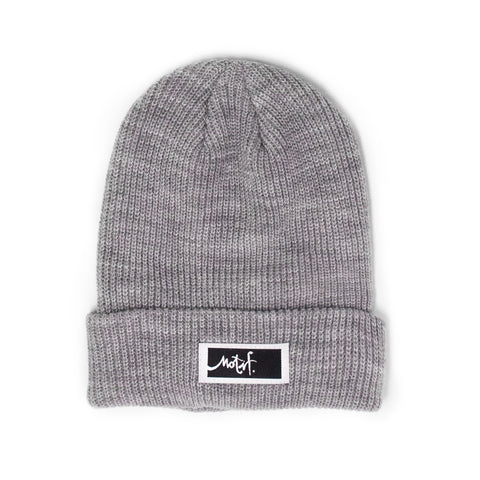 Light Grey Beanie - Black Label
