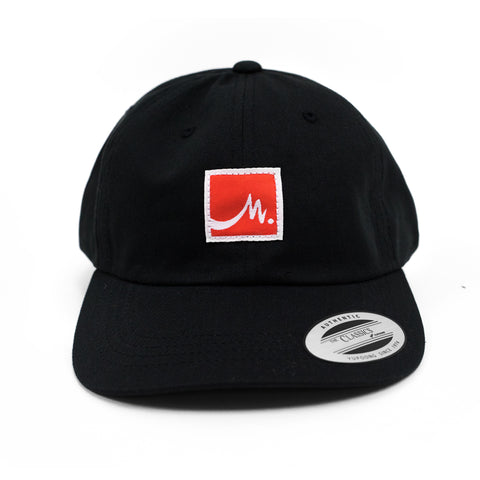 Black Dad Hat - Red Label - Wholesale