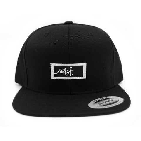 Black Snapback - Black Label - Wholesale