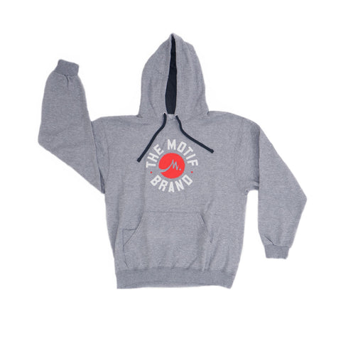 Motif Brand Hoodie - Heather Grey