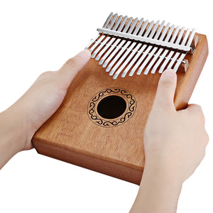 17 Tone Wooden Kalimba Thumb Piano Portable Finger Musical instrument