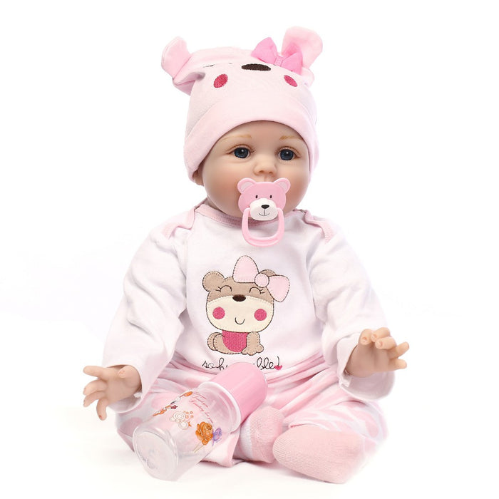 NPK Simulated Cute Soft Touch Lifelike Silicone Baby Girl Reborn Toy