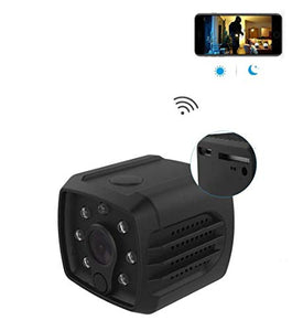 Versatile Dash Cam WiFi with Battery Rear View Camera 1080P with Magnet Audio Support SD Card Recording Motion Detection/Night Vision for Smart Phone/Pad/PC Mini Hidden Camera Baby Monitor Nanny Cam