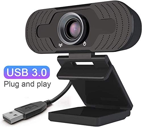 EsiCam Webcam 1080P with Microphone, 110-degree Wide Angle HD Auto Focus, Built-in Dual Stereo Mics USB Camera, for PC Mac Laptop Desktop Streaming Video Calling Recording Conferencing