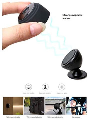 Mini Hidden Camera Nanny Spy Camera Versatile Dash Cam Wifi with Audio Battery Magnet 1080P SD Card Recording Indoor Surveillance Motion Detection For Phone Baby Monitor Dog Cam (Mini (EC06))