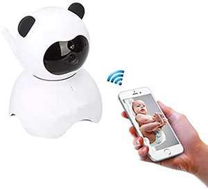 EsiCam Baby Monitor WiFi Camera Nanny Camera for Smart Phone, Toy Panda for Kids Pet Care HD Pan Tilt Motion Detection Alarm Recording Two-Way Audio Night Vision SD Card P2P Cloud Account