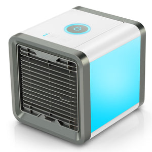 Portable Air Conditioner USB Fan, 3 in 1 Personal Space Air Cooler, Humidifier, Purifier, Desktop Cooling Fan Personal Table Fan Used Office Home Kitchen