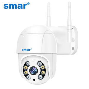 Smar 1080P Outdoor PTZ Wireless IP Camera 4X Digital Zoom Speed Dome Mini WiFi Security CCTV Audio Camera Auto tracking of Human