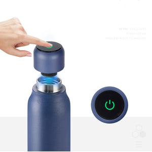 UV Water Bottle Purifier Rechargeable UV Sterilizing water bottle with Double Wall Keeping Water Hot or Cool