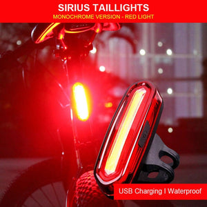 WHEEL UP Bike Taillight Waterproof Riding Rear light Led Usb Chargeable Mountain Bike Cycling Light Tail-lamp Bicycle Light