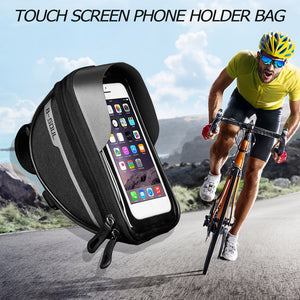 Bicycle Frame Front Tube Bag Portable Waterproof Practical Touch Screen Phone Holder MTB Bike Handlebar Cell Mobile Phone Bag