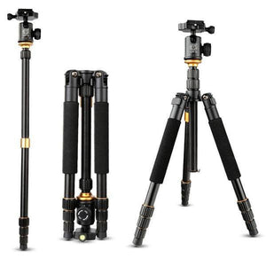 Professional Tripod / Monopod with 360° Fluid Ball Head Mount - Aluminum Magnesium Alloy