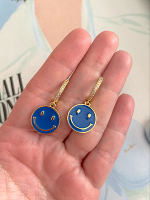 Colored Happy Face earrings