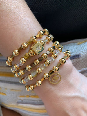 Mixed Gold Beaded Bracelets