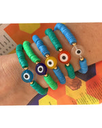 Colored Rubber with Evil Eye