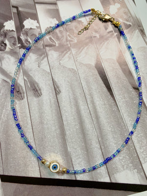 In the blues Evil Eye Choker