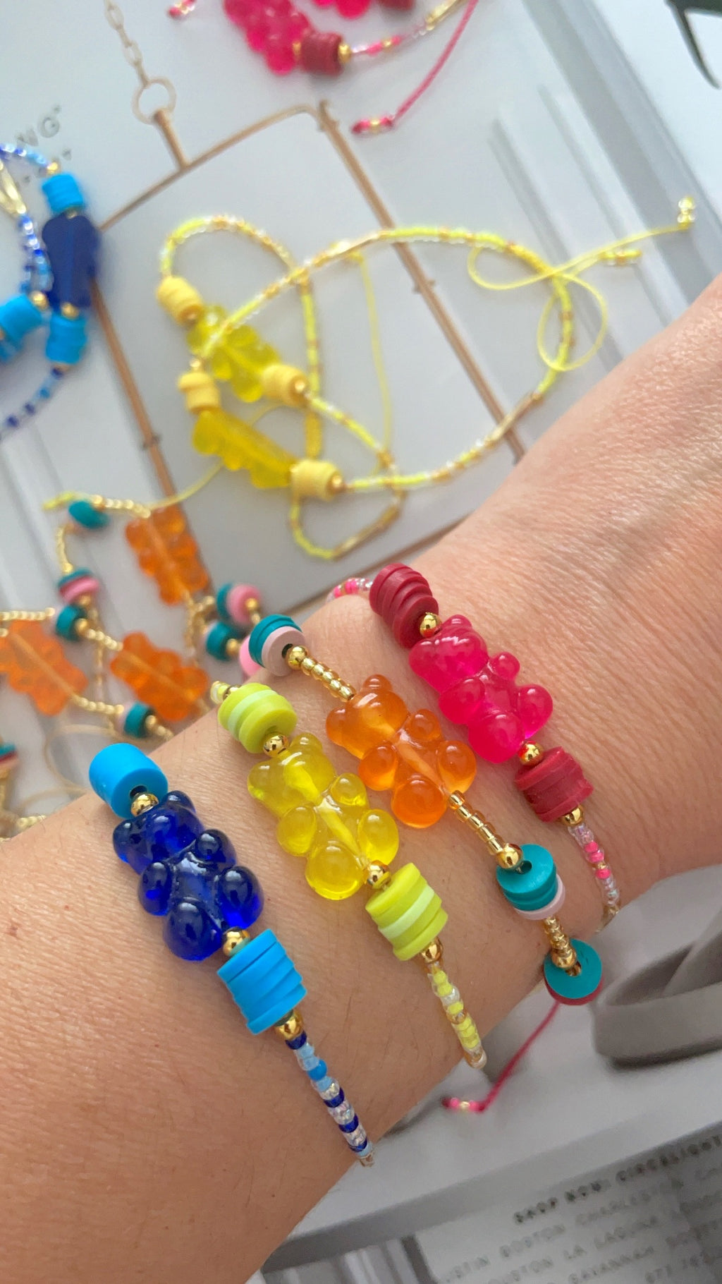 Beaded gummy Bears bracelets