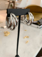 Triple Hoops Earrings