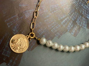 Links and pearls Necklace