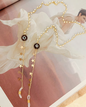 Star/Evil Eye and Whites Sunny Chain